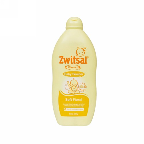 ZWITSAL POWDER CLASSIC SOFT FLORAL 300 GRAM BOTOL
