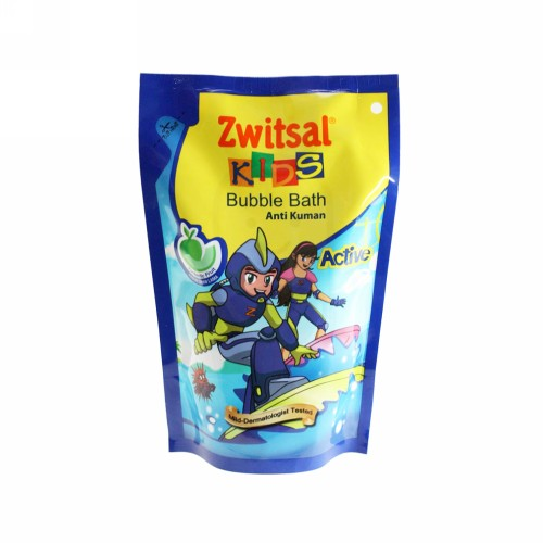 ZWITSAL KIDS BUBBLE BATH ACTIVE ANTI KUMAN FANTASTIC FRUIT 250 ML BOTOL