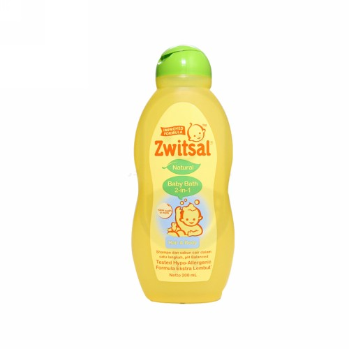 ZWITSAL BABY BATH 2 IN 1 HAIR AND BODY NATURAL 200 ML BOTOL