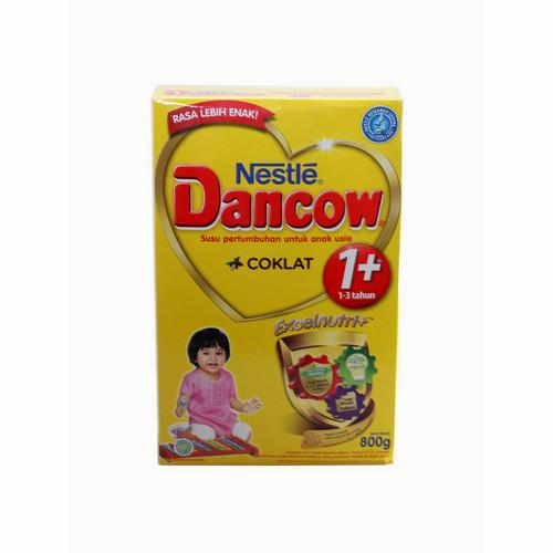 DANCOW 1+ EXCELNUTRI+ USIA 1-3 TAHUN RASA COKLAT 800 GRAM BOX