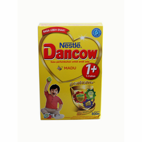 DANCOW 1+ EXCELNUTRI+ USIA 1-3 TAHUN RASA MADU 800 GRAM BOX