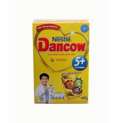 DANCOW 5+ EXCELNUTRI+ USIA 5-12 TAHUN RASA MADU 400 GRAM BOX