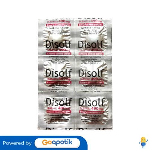 DISOLF 490 MG STRIP 6 TABLET