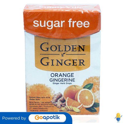 GOLDEN GINGER FLIPTOP SUGAR FREE ORANGE GINGERINE 45 GRAM