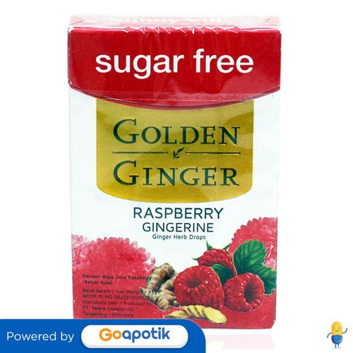 GOLDEN GINGER FLIPTOP SUGAR FREE RASPBERRY GINGERINE 45 GRAM