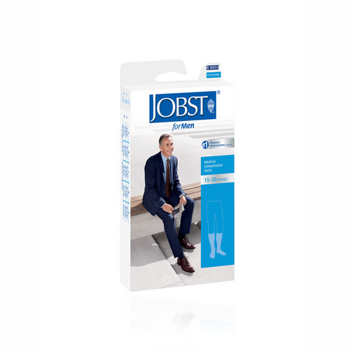 JOBST FORMEN 15-20 KNEE HIGH BLACK UKURAN L
