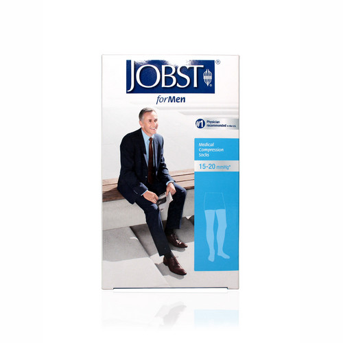 JOBST FORMEN 15-20 THIGH HIGH BLACK UKURAN M