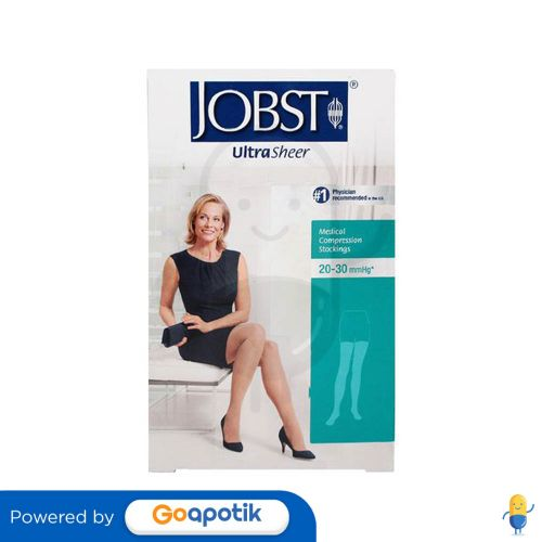 JOBST ULTRASHEER 20-30 KNEE HIGH CLOSE TOE SILKY BEIGE UKURAN M