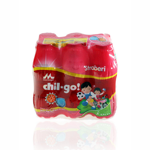 MORINAGA CHIL-GO SUSU RASA STRAWBERRY 140 ML DUS 6 BOTOL