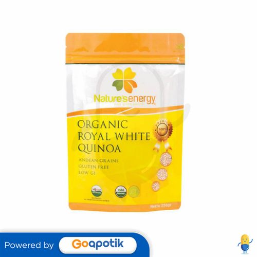 NATURE'S ENERGY ORGANIC ROYAL WHITE QUINOA 250 GRAM