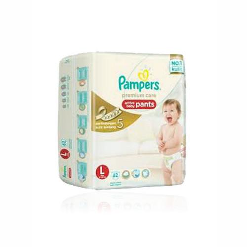 PAMPERS PREMIUM CARE POPOK CELANA UKURAN L BOX 62 PCS