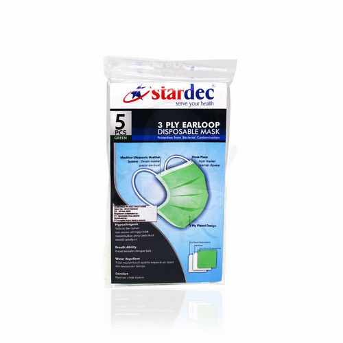 STARDEC 3 PLY SURGICAL MASK EARLOOP ISI 5