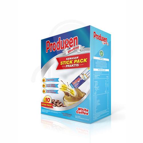 PRODUGEN VITAFIRST RASA WHITE COFFEE 35 GRAM BOX 10 STICK PACK